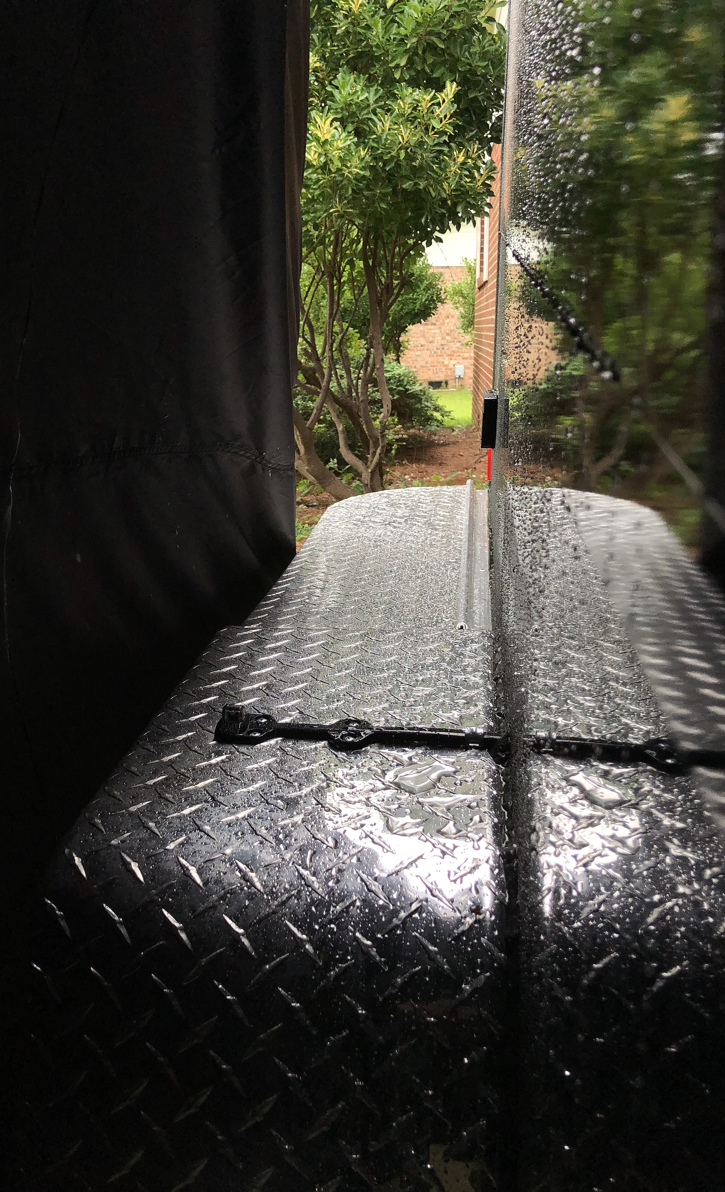 DIY ~ Micro-Lite Cargo-Go Lite Xtreme Trailer [canopy–second rain test], 07/07