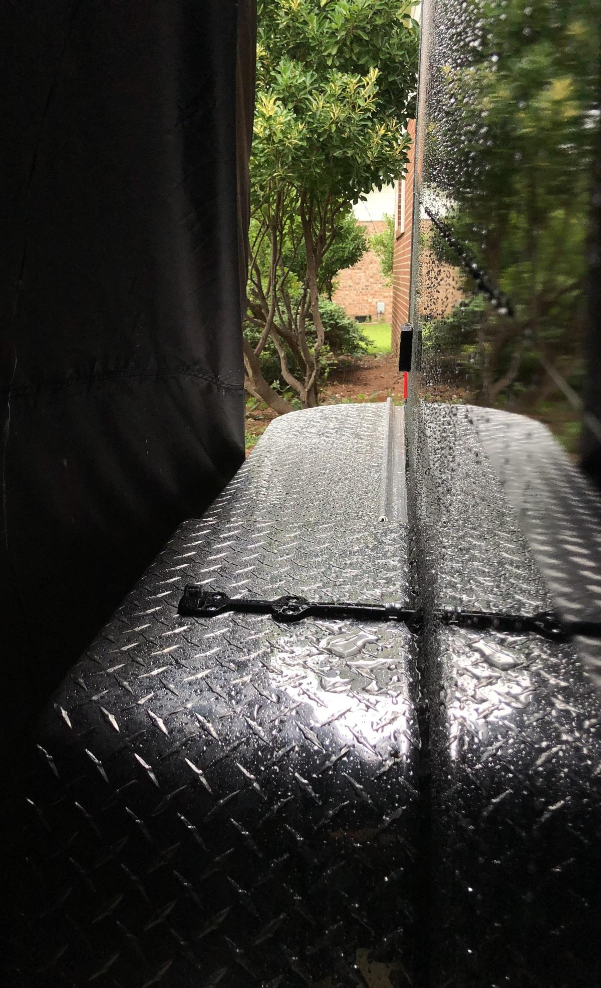 DIY ~ Micro-Lite Cargo-Go Lite Xtreme Trailer [canopy–second rain test],07/07