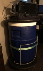 As my Xtreme Cooler rolls- I think I will add insulation and enclose the bottom with wood