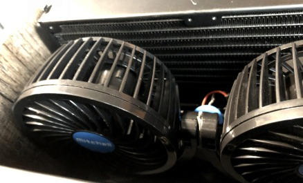 Replacement fans are fitted into my DIY heat exchanger