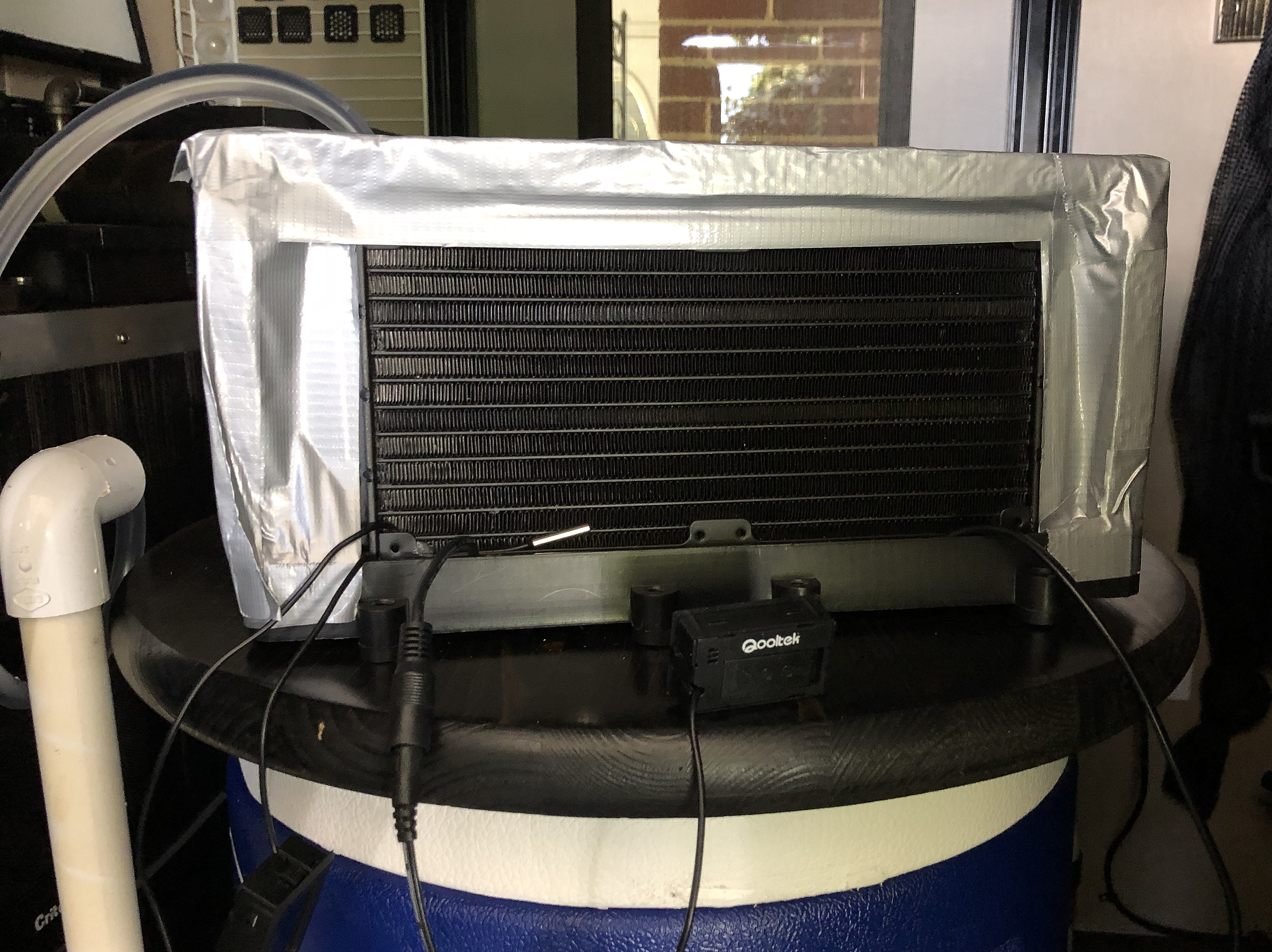 DIY ~ Micro-Lite Cargo-Go Lite Xtreme Trailer [Air Cooler–Heat Exchanger Insulated & Taped], 08/10