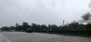 Person Street Bridge over the Cape Fear River in Fayetteville, North Carolina looking west to east
