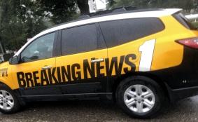 A news car at the Cape Fear River