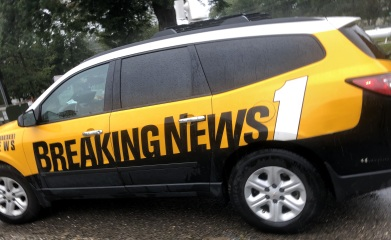 A news car at the Cape Fear River
