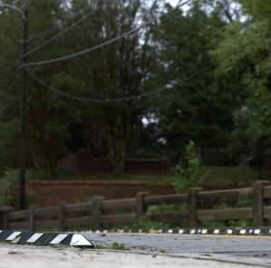 Debris at the N. Cool Spring Street Bridge over Cross Creek near Evans Metropolitan AME Zion Church, Fayetteville, North Carolina