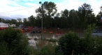 Cape Fear River flooding at Cumberland Tractor Kubota of Fayetteville
