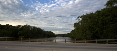 The Cape Fear River at 60-feet or so [looking northt across Grove street]