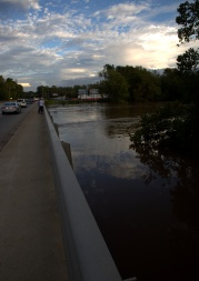 The Cape Fear River at 60-feet or so [looking east--Grove street to the left]