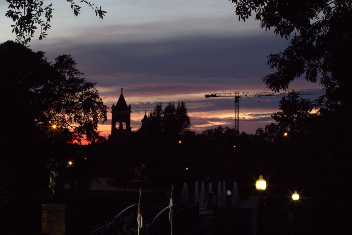 Photography ~ Sunset–Downtown Fayetteville, North Carolina, 09/28