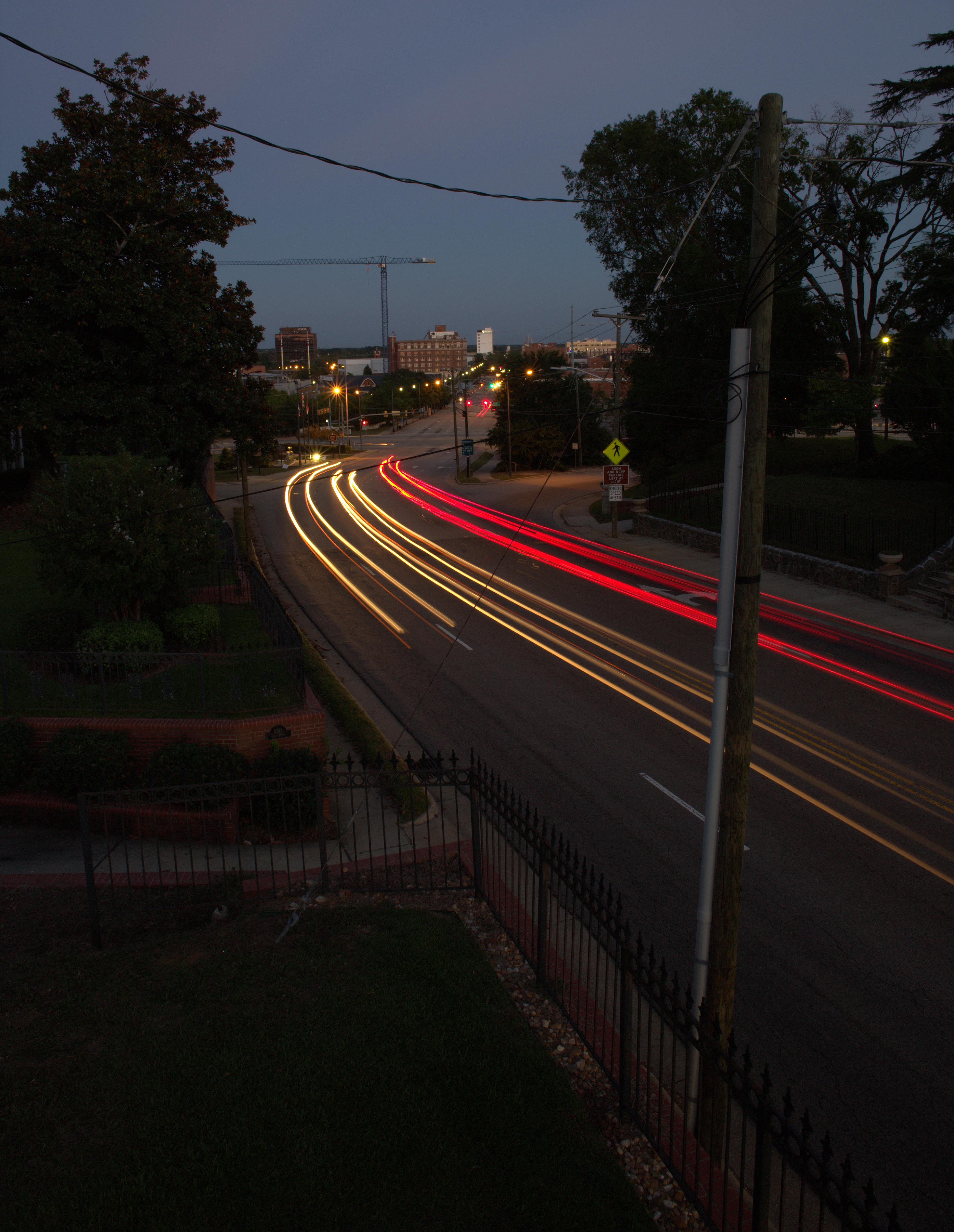 Photography ~ Downtown Fayetteville, North Carolina Light Trails, 10/07