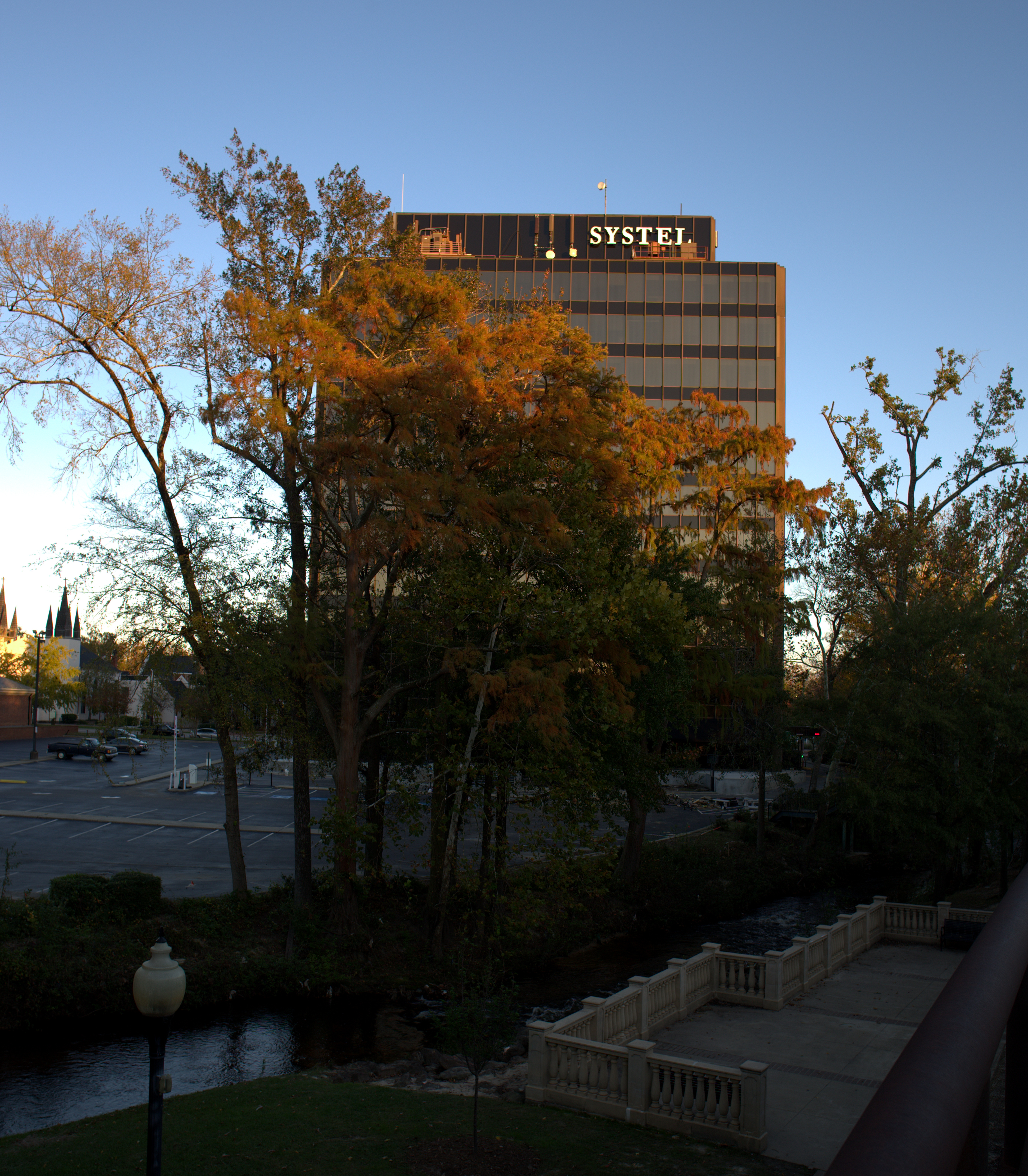 Photography ~ Around Sunset–Downtown Fayetteville, NC [The Systel Building], 11/10