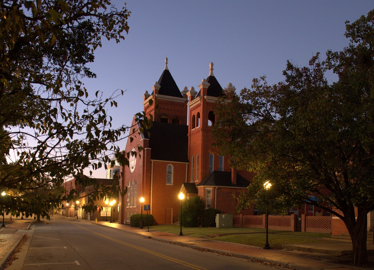 Photography ~ First Baptist Church at Dawn, Downtown Fayetteville, North Carolina, 11/17
