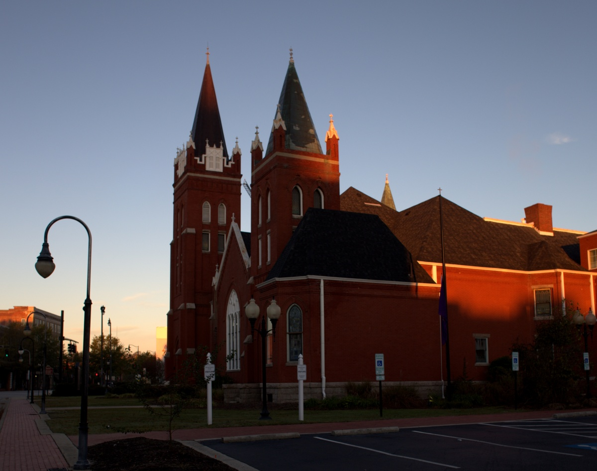 Photography ~ Hay Street United Methodist Church at Dawn, Downtown Fayetteville, NC, 11/17